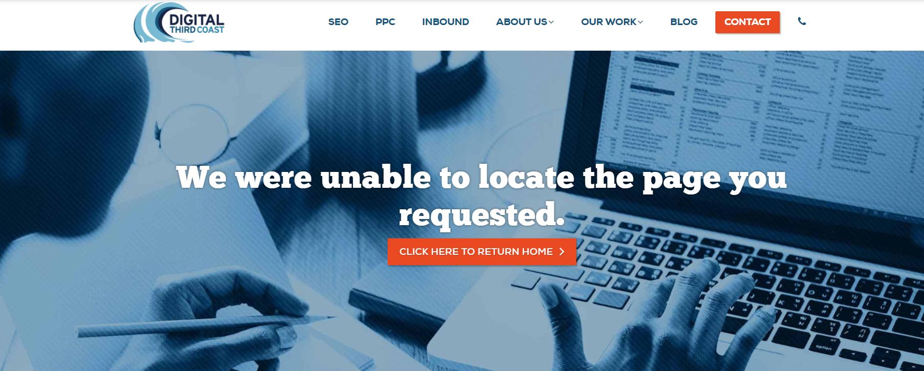 Digital Third Coast custom 404 page