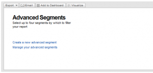 Example of advanced segments