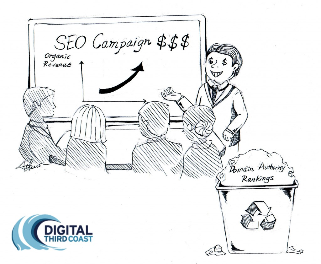 DTC Weekly Cartoon - SEO and domain authority