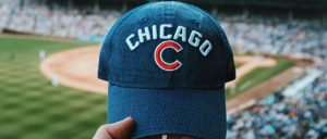 Chicago cubs hat at Wrigley Field