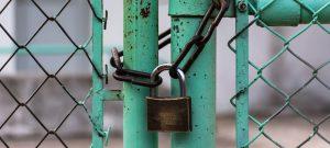 lock securing fence shut