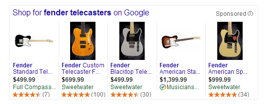 star ratings in Google AdWords