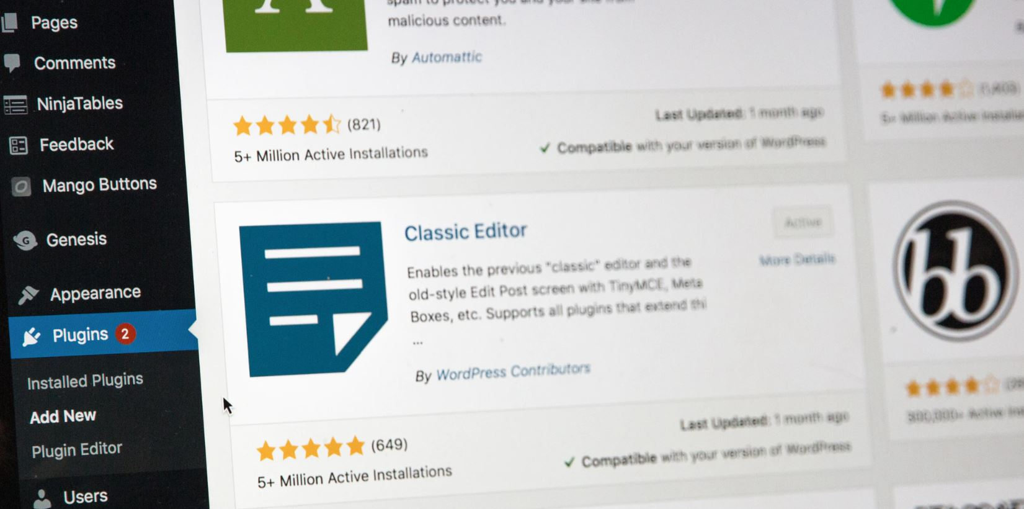 Editing a wordpress site