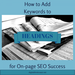 how to add keywords to headings for on-page seo success