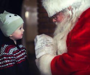 santa holding naughty or nice list