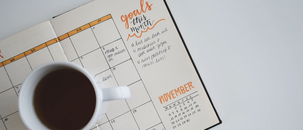 notebook tracking goals