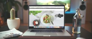 laptop open to website