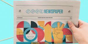 Newspaper reading good news