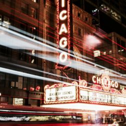 Chicago at nighttime