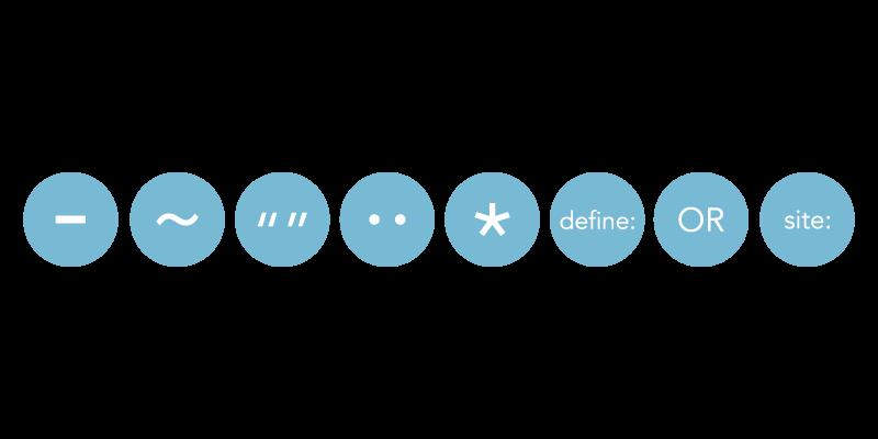 Symbols to make Google work better for you