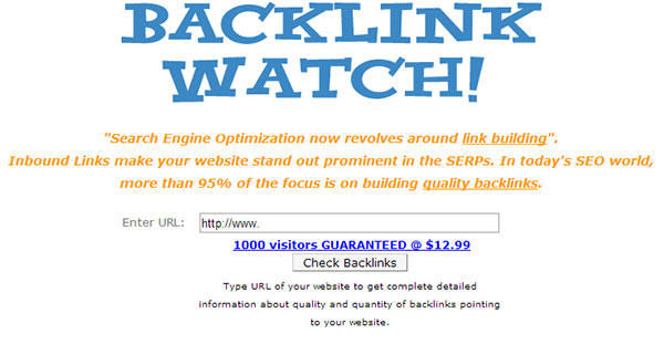 Backlink Watch Preview