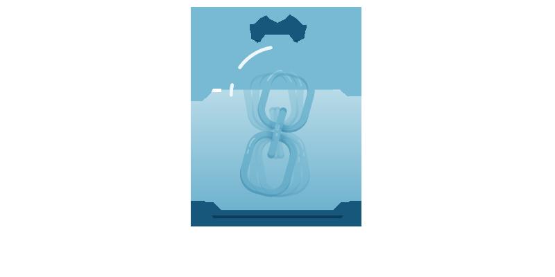 Link in a jar representing quality versus quantity