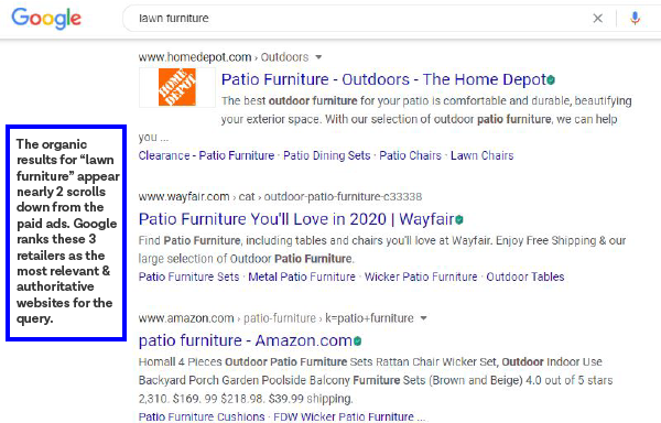 "organic search results for ""lawn furniture"""