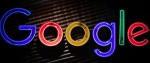 Google sign with lights