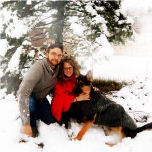 Ryan Dornan in the snow