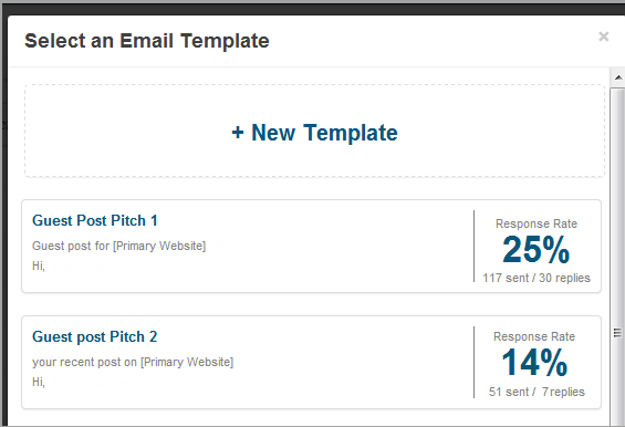 using buzzstream to split test email campaigns
