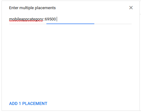 Google display network placements