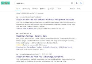 PPC Statistics Search Engine Results Page
