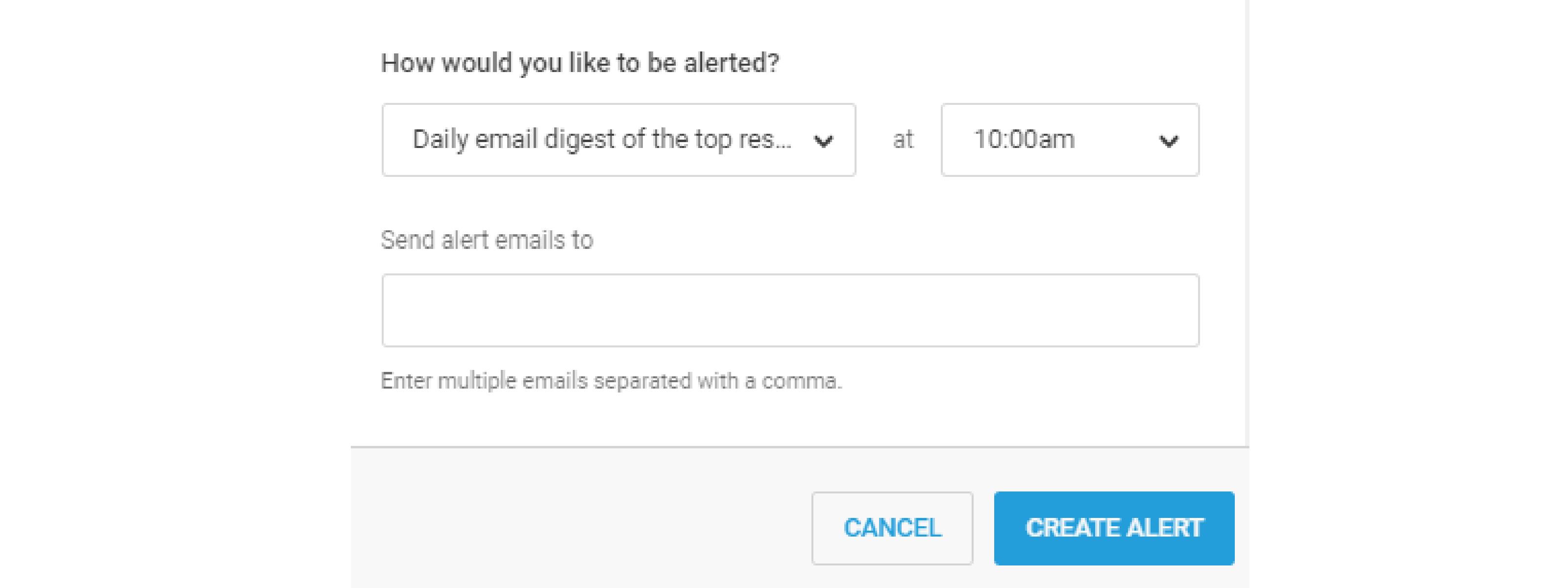 buzzsumo backlink alert set emails