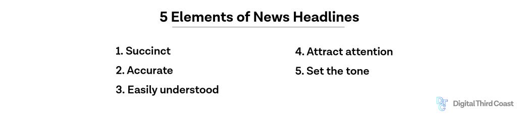 five elements of news headlines