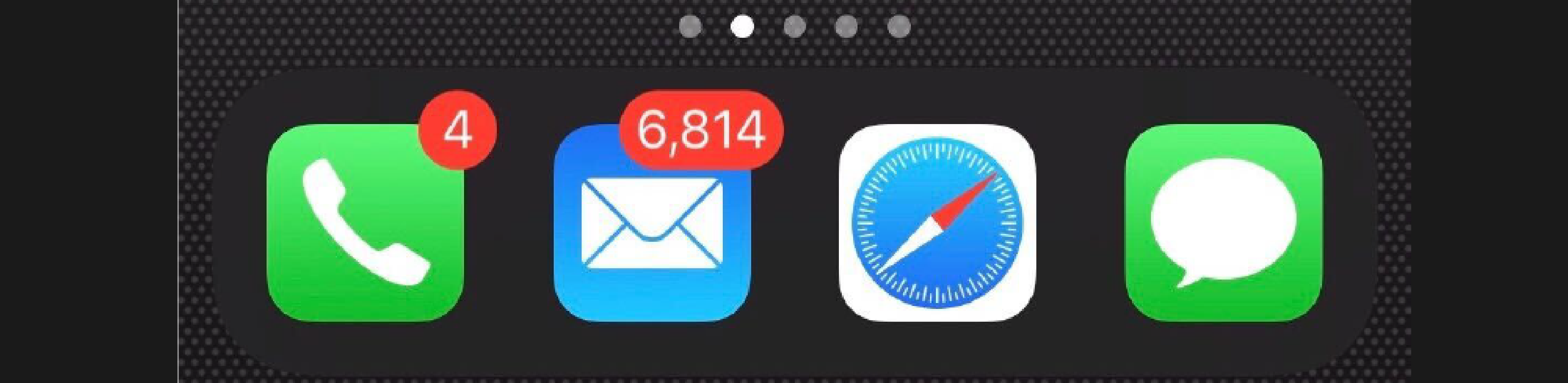 crowded email inbox