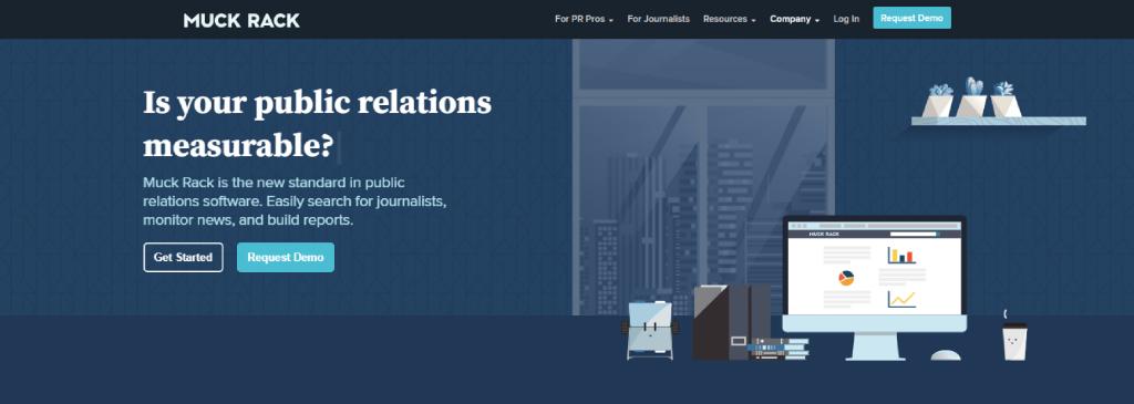 Muck Rack homepage
