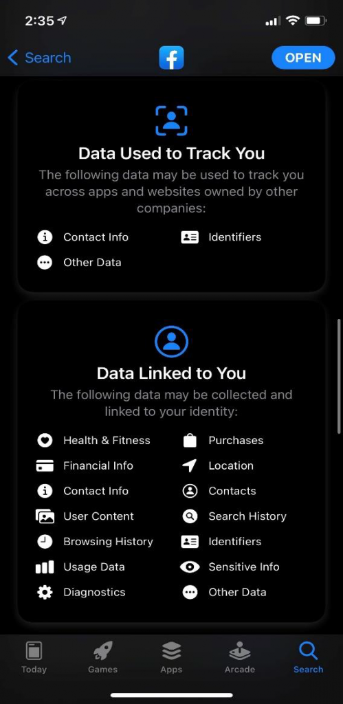 iphone data tracking: feature allows users to opt-in or opt-out of ad tracking.